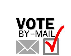 Vote By Mail Logo for Light Background