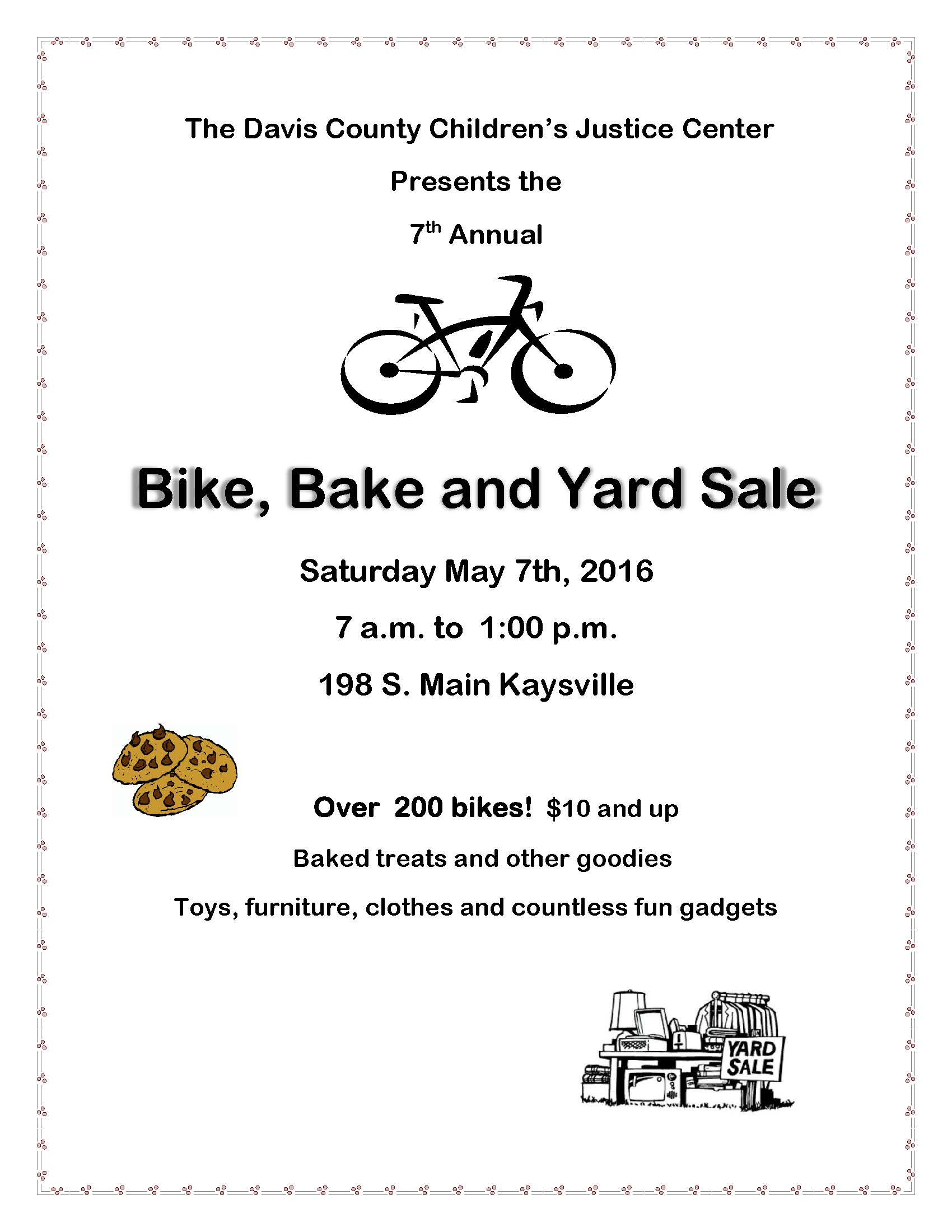 Yard and Bike Sale flyer