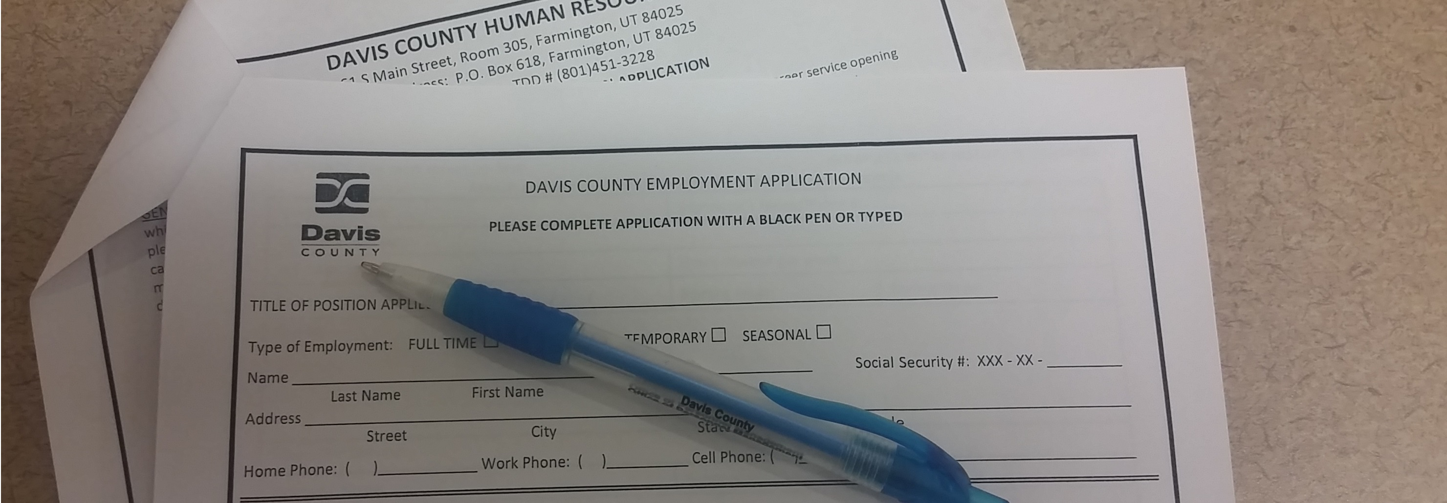 Davis County Employment Application