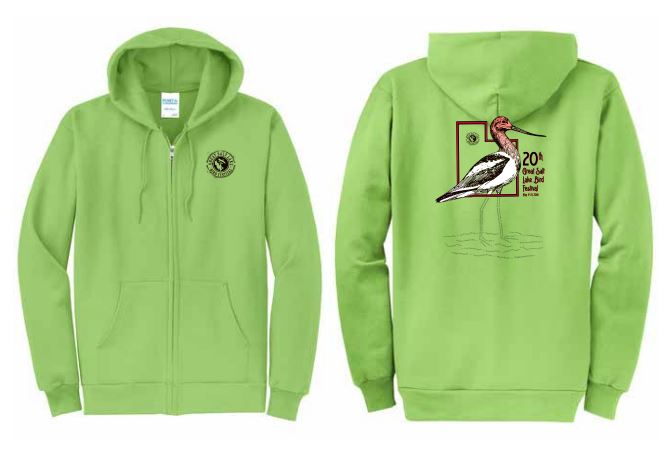 2018 green hoodie with zipper