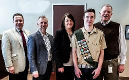 "Joshua Trammel recognized for his Eagle Scout Project, ""Operation Gratitude"""