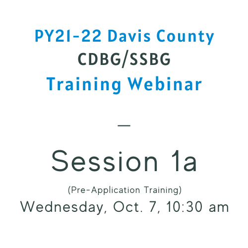 Copy of CDBG Training 1a